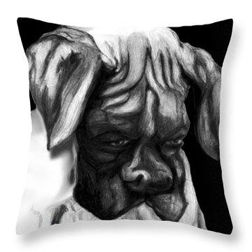 Boxer Puppy Throw Pillow by Enzie Shahmiri