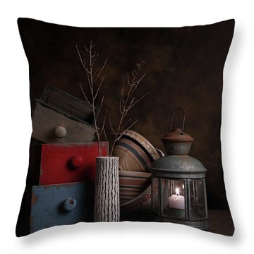Throw Pillow featuring the photograph Boxes And Bowls by Tom Mc Nemar