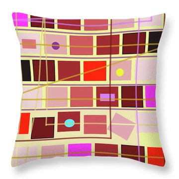 Boxes And Lines Throw Pillow