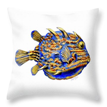 Boxfish II Throw Pillow