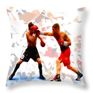 Throw Pillow featuring the painting Boxing 113 by Movie Poster Prints