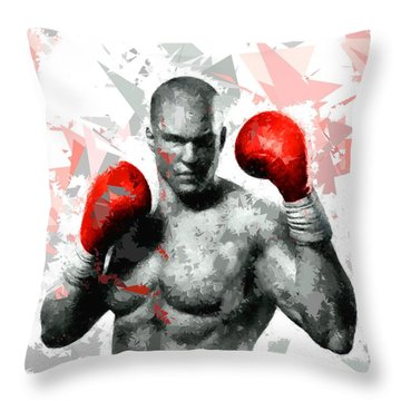 Throw Pillow featuring the painting Boxing 114 by Movie Poster Prints