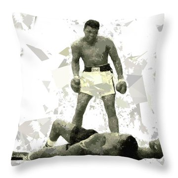 Throw Pillow featuring the painting Boxing 115 by Movie Poster Prints