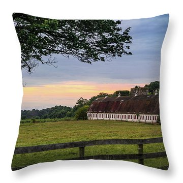 Boxwood Farm Throw Pillow