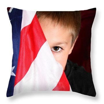 Boy And His Country Throw Pillow