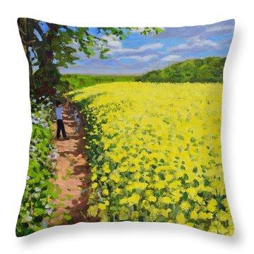 Boy And His Dog, Radbourne, Derby Throw Pillow
