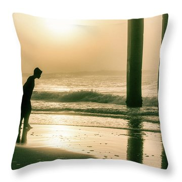 Throw Pillow featuring the photograph Boy At Sunrise In Alabama  by John McGraw