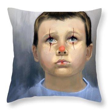 Boy Clown Throw Pillow
