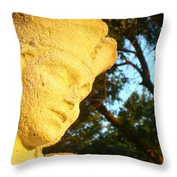 Boy Enjoys Sunrise Throw Pillow