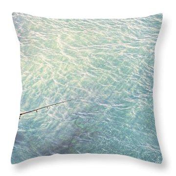Boy Fishing Throw Pillow