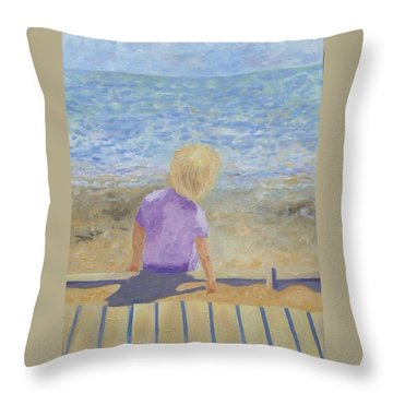 Boy Lost In Thought Throw Pillow