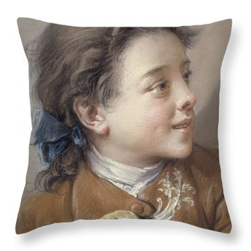 Boy With A Carrot, 1738 Throw Pillow by Francois Boucher