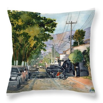 Boy With Bike, Mx Throw Pillow