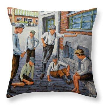Boys In New York 1900 Throw Pillow