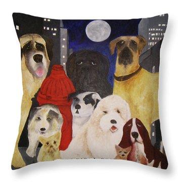 Boys Night Out Throw Pillow