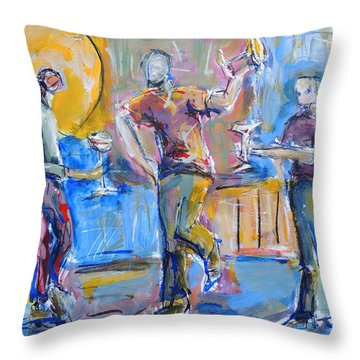 Boys Night Out Throw Pillow