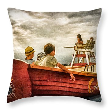 Boys Of Summer Cape May New Jersey Throw Pillow
