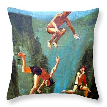 Boys Of Summer Throw Pillow by Geoff Greene