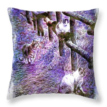 Boys On The Prowl Throw Pillow