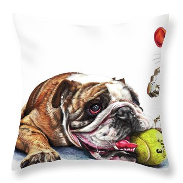 Boy's Toys Throw Pillow