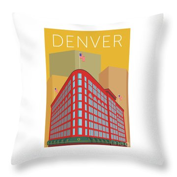 Denver Brown Palace/gold Throw Pillow