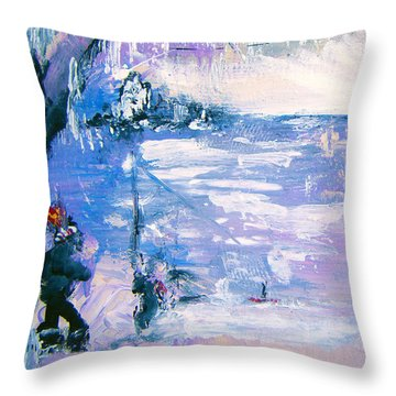 Be Brave By Colleen Ranney Throw Pillow
