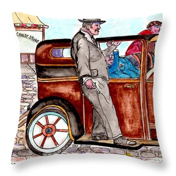 Bracco Candy Store - Window To Life As It Happened Throw Pillow