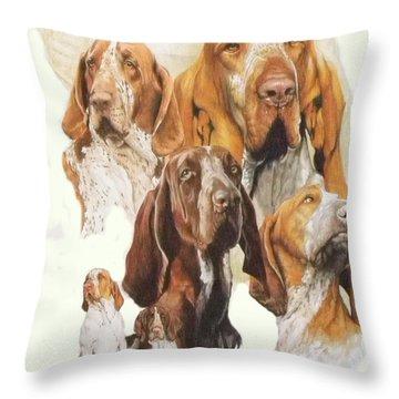 Bracco Italiano Medley Throw Pillow