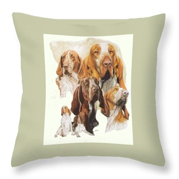 Bracco Italiano W/ghost Throw Pillow