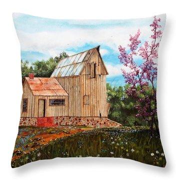 Bradford's Barn Throw Pillow
