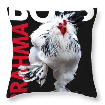 Brahma Boss II T-shirt Print Throw Pillow