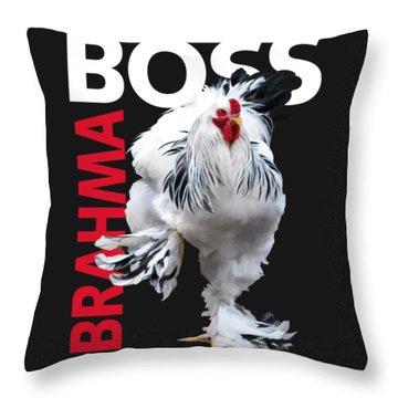 Brahma Boss II T-shirt Print Throw Pillow