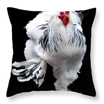 Brahma Breeders Rock T-shirt Print Throw Pillow
