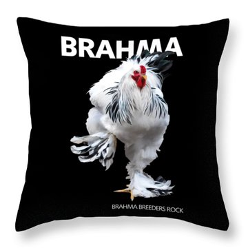 Brahma Breeders Rock T-shirt Print Throw Pillow