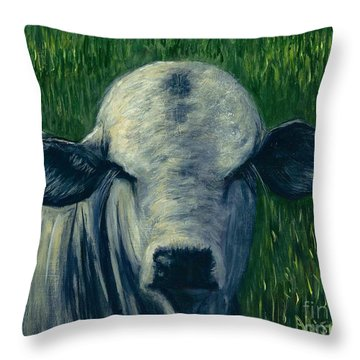 Brahma Bull  Throw Pillow