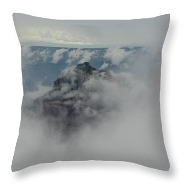 Brahma Temple In A Sea Of Clouds Throw Pillow