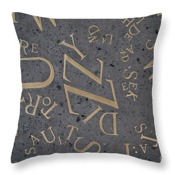 Braid Station Letters Throw Pillow