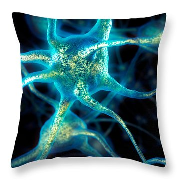 Brain Cell Neurons Throw Pillow