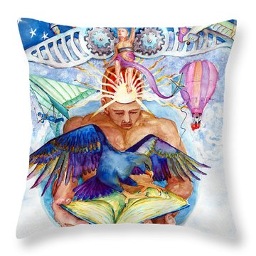 Brain Child Throw Pillow