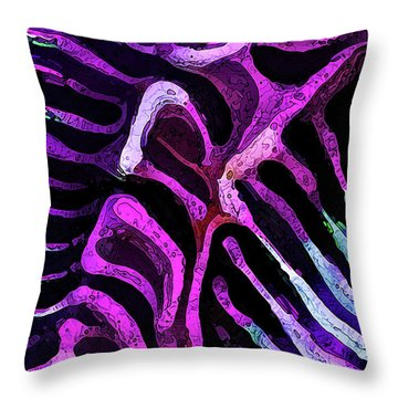 Brain Coral Abstract 1 In Magenta Throw Pillow