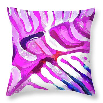 Brain Coral Abstract 7 In Pink Throw Pillow