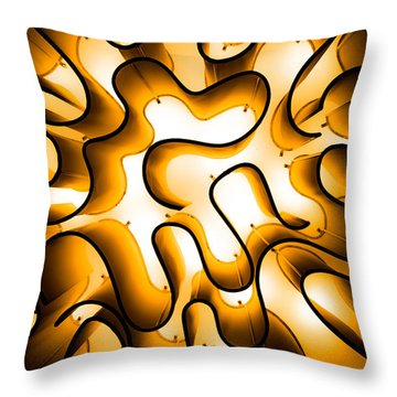 Brain Lighting Throw Pillow