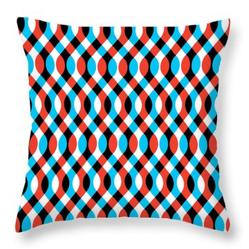 Brain Waves - Blue Throw Pillow