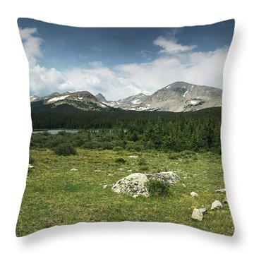 Brainard Lake Throw Pillow