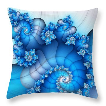 Brainstorming Throw Pillow by Jutta Maria Pusl