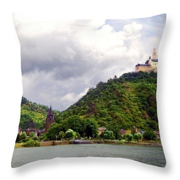 Throw Pillow featuring the photograph Brambach Germany by Joan  Minchak
