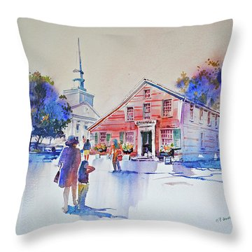 Bramhall's Corner Throw Pillow