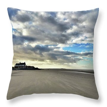 Brancaster Beach This Afternoon 9 Feb Throw Pillow