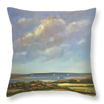 Brancaster Staithes, Norfolk Throw Pillow by Genevieve Brown