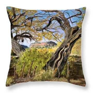 Branch Embrace Throw Pillow by Julie Maas